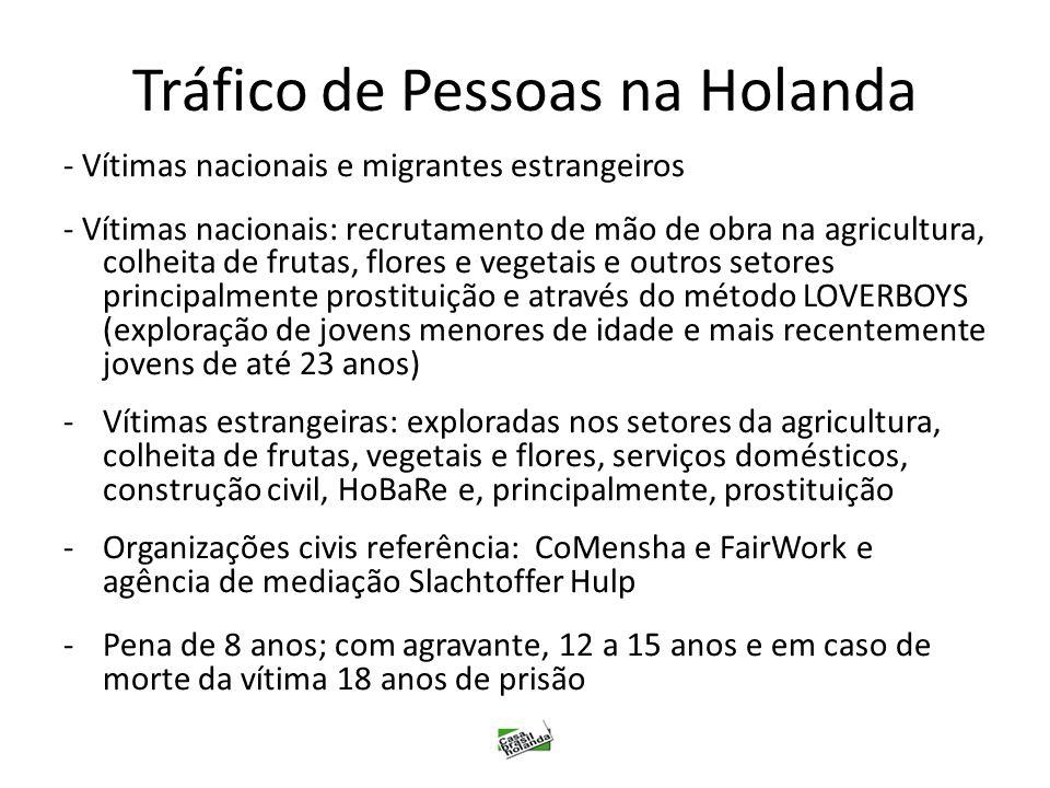 Tráfico de Pessoas na Holanda - Vítimas nacionais e migrantes estrangeiros - Vítimas nacionais: recrutamento de mão de obra na agricultura, colheita d