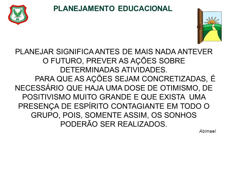 PLANEJAMENTO EDUCACIONAL UNIDADE I 6.1 Plano da Escola (continuação) ROTEIRO PARA ELABORAÇÃO DO PLANO DA ESCOLA 1)Posicionamento sobre as finalidades da educação escolar na sociedade e na escola.