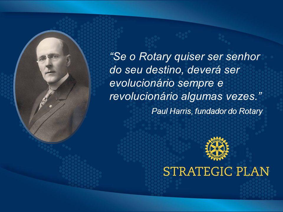 Click to edit Master title style Se o Rotary quiser ser senhor do seu destino, deverá ser evolucionário sempre e revolucionário algumas vezes. Paul Harris, fundador do Rotary