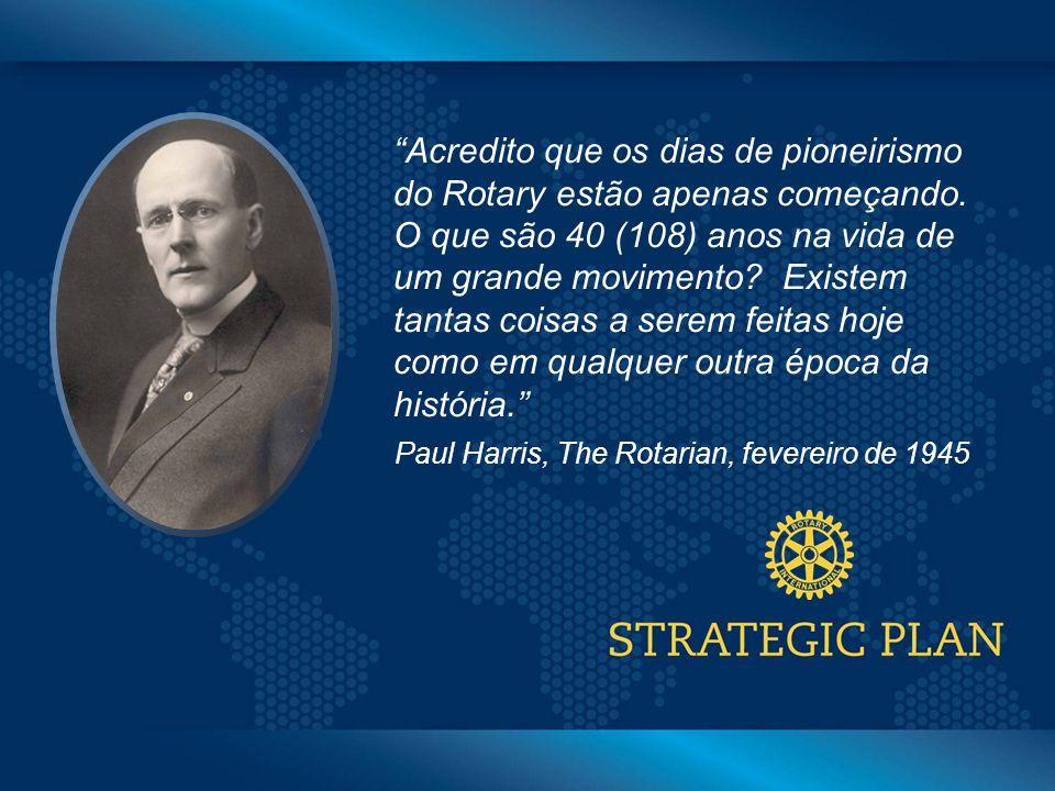 Click to edit Master title style Acredito que os dias de pioneirismo do Rotary estão apenas começando.