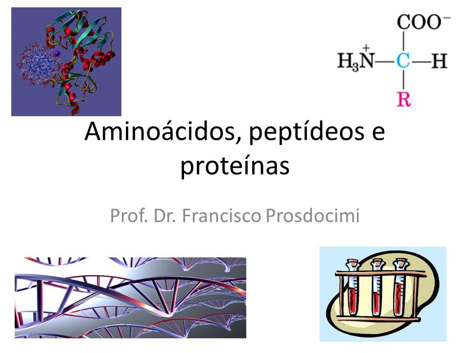 Aminoácidos, peptídeos e proteínas Prof. Dr. Francisco Prosdocimi