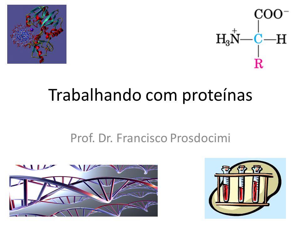 Trabalhando com proteínas Prof. Dr. Francisco Prosdocimi