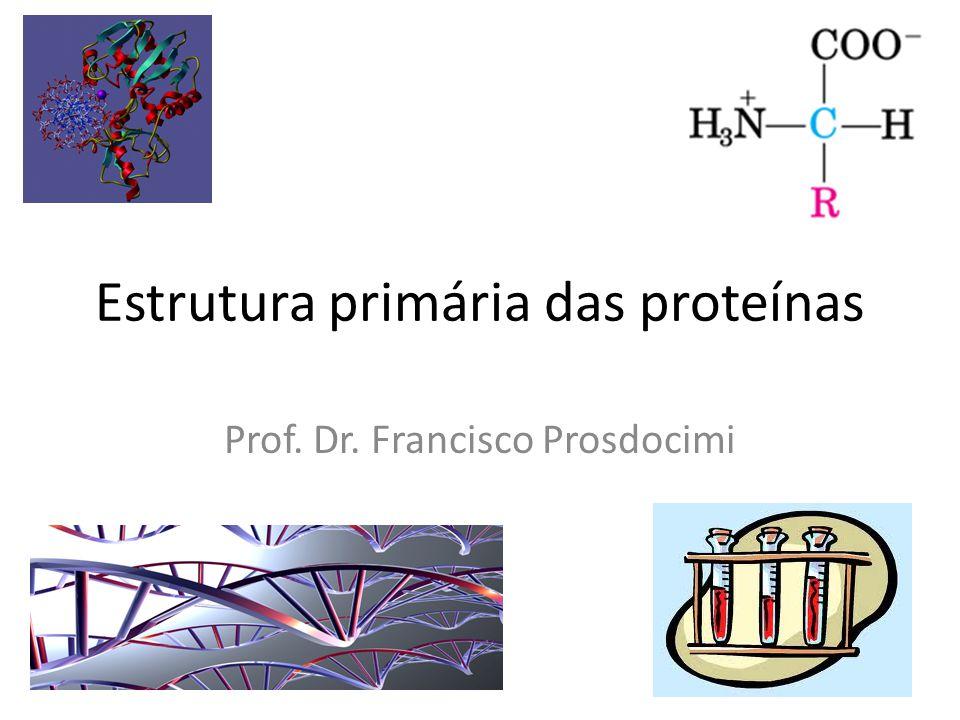 Estrutura primária das proteínas Prof. Dr. Francisco Prosdocimi