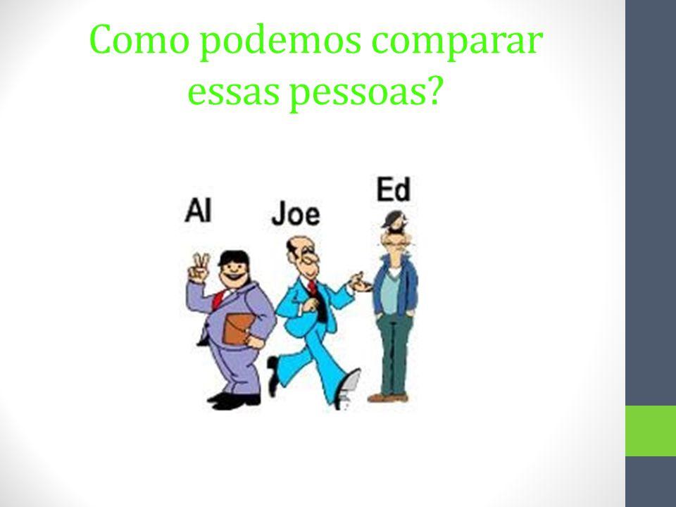 Aqui estão algumas frases: Al is shorter than Ed.Ed is taller than Joe.