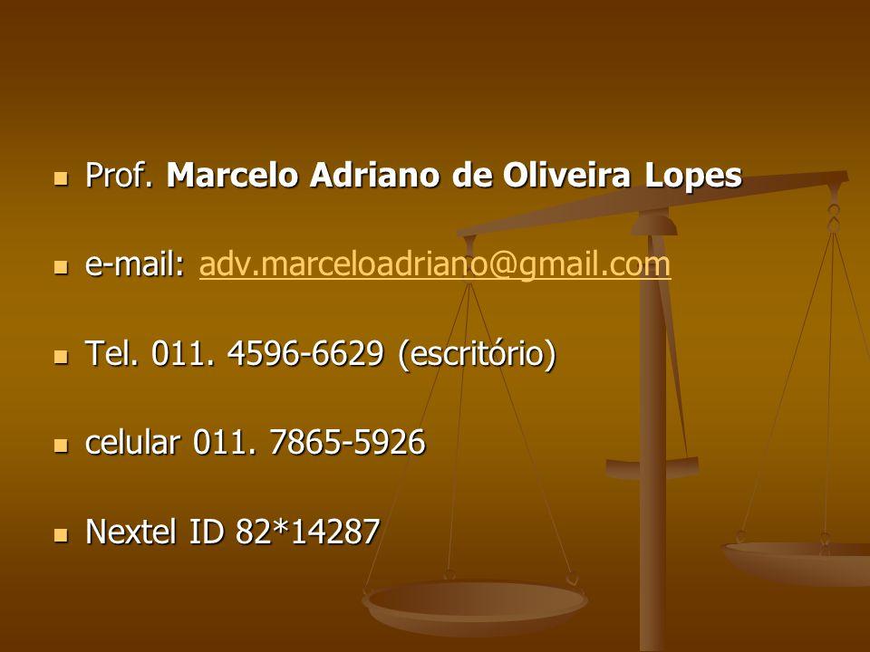 Prof.Marcelo Adriano de Oliveira Lopes Prof.