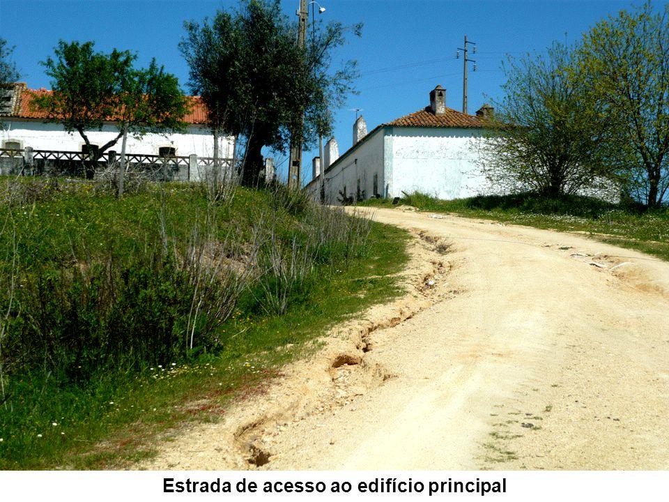 Estrada de acesso ao edifício principal