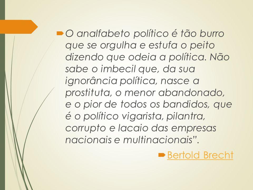 Sociologia Política  É o ramo da Sociologia que pretende analisar e explicar os fenômenos políticos a partir de seus diversos condicionantes sociais.