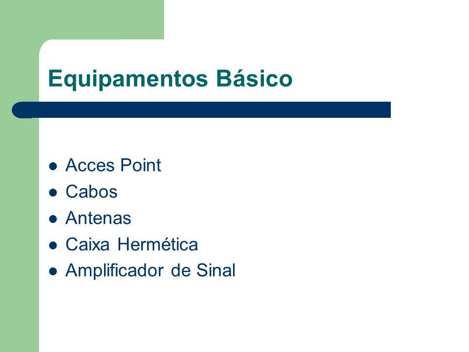 Equipamentos Básico Acces Point Cabos Antenas Caixa Hermética Amplificador de Sinal