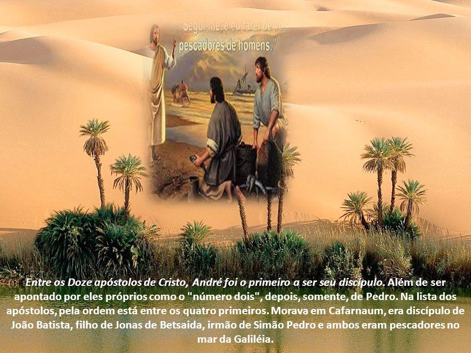 Foi um dos primeiros discípulos de Nosso Senhor. Era irmão de São Pedro, que apresentou ao Mestre. Segundo antiga tradição, pregou na região dos Bálcã