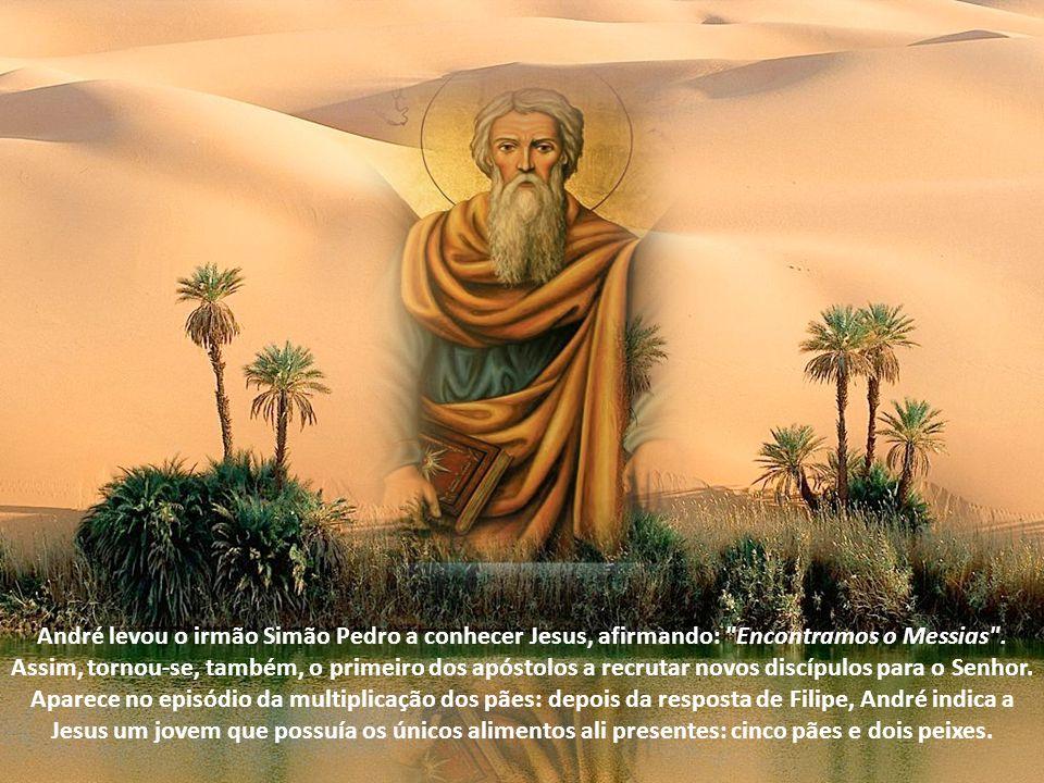 Entre os Doze apóstolos de Cristo, André foi o primeiro a ser seu discípulo. Além de ser apontado por eles próprios como o