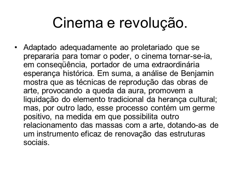 Cinema e revolução. Adaptado adequadamente ao proletariado que se prepararia para tomar o poder, o cinema tornar-se-ia, em conseqüência, portador de u