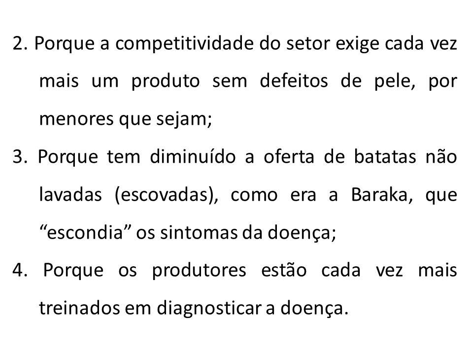 2. Porque a competitividade do setor exige cada vez mais um produto sem defeitos de pele, por menores que sejam; 3. Porque tem diminuído a oferta de b