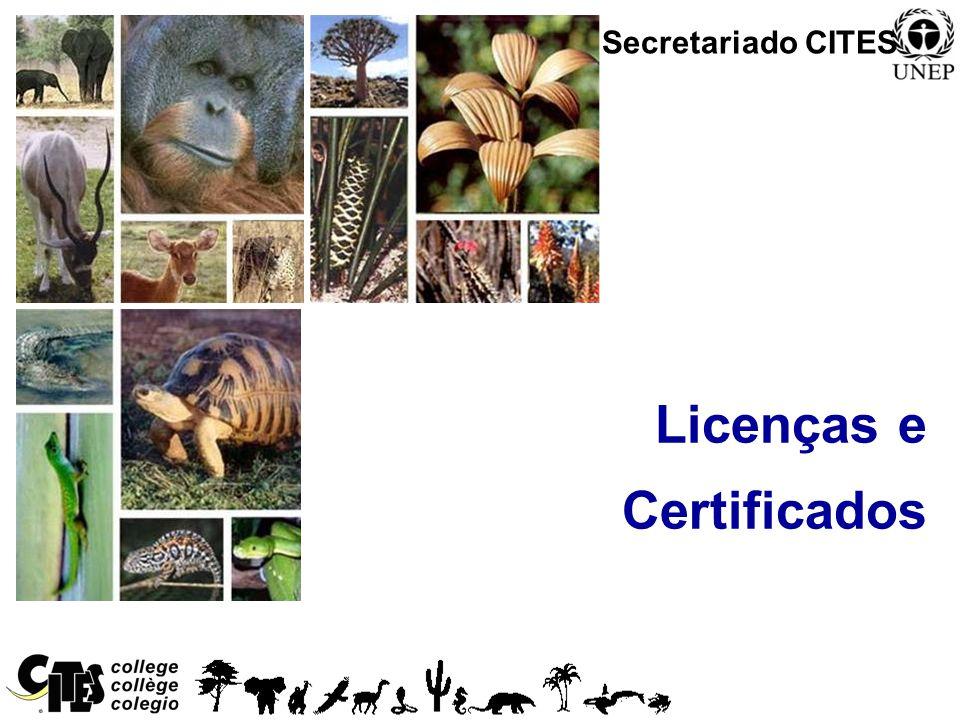 1 Licenças e Certificados Secretariado CITES