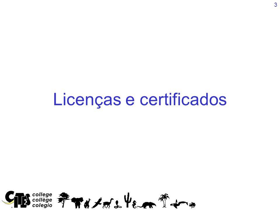 3 Licenças e certificados