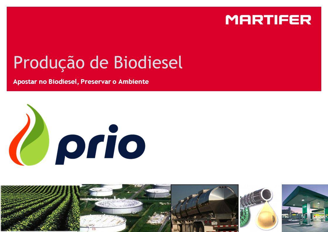 Produção de Biodiesel Apostar no Biodiesel, Preservar o Ambiente