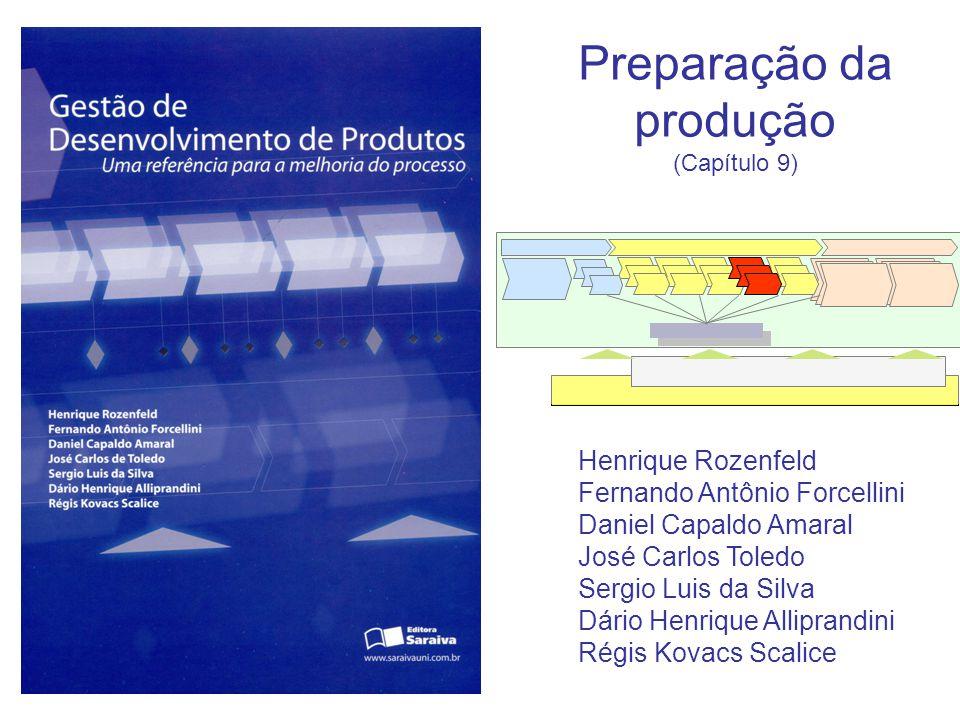 Preparação da produção (Capítulo 9) Henrique Rozenfeld Fernando Antônio Forcellini Daniel Capaldo Amaral José Carlos Toledo Sergio Luis da Silva Dário