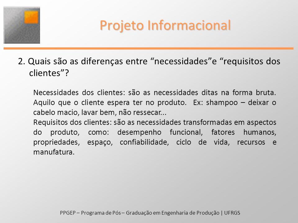 PPGEP – Programa de Pós – Graduação em Engenharia de Produção | UFRGS Projeto Conceitual 3.