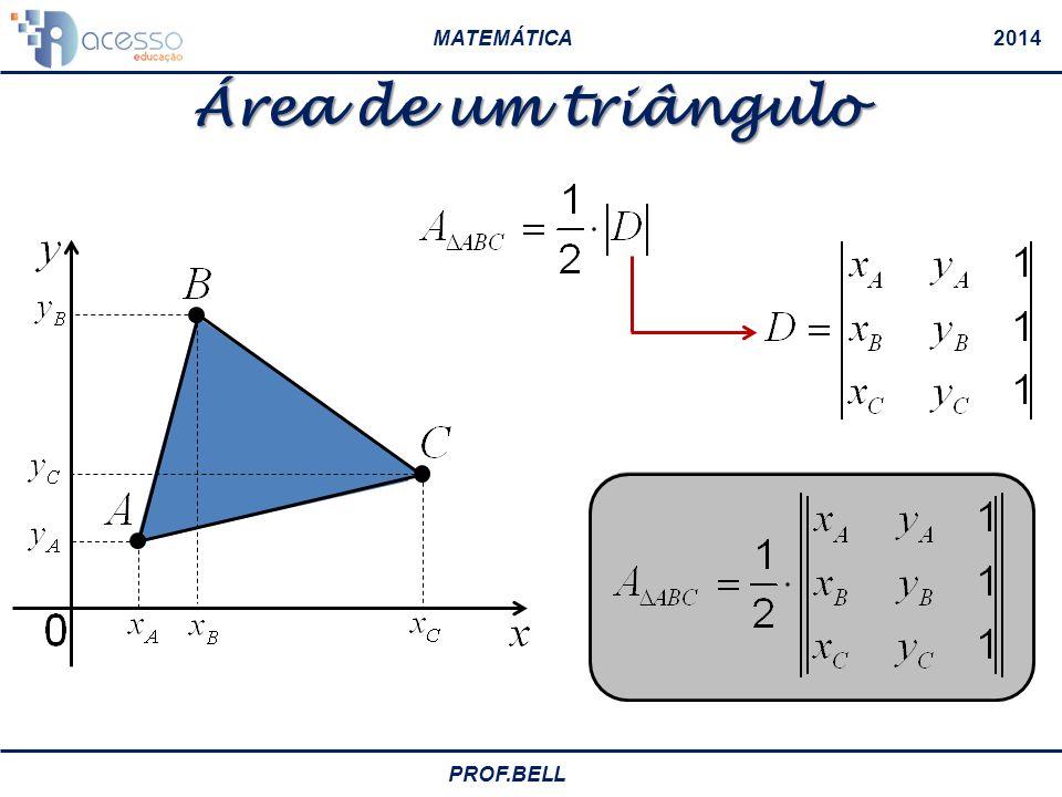 MATEMÁTICA2014 PROF.BELL Condição de alinhamento de três pontos