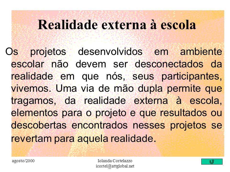 agosto/2000Iolanda Cortelazzo icortel@attglobal.net Valores Respeito mútuo, tolerância e confiança são essenciais para a colaboração....