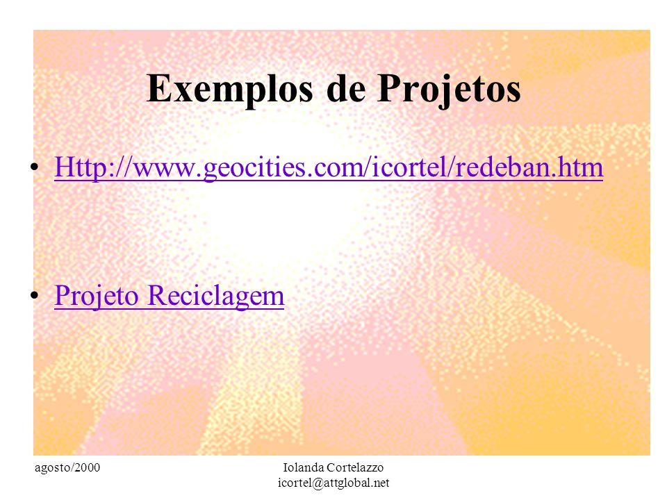agosto/2000Iolanda Cortelazzo icortel@attglobal.net Aprender a viver em comunidade POSTMAN (1996:45) chama a atenção para o fato de só poder existir u
