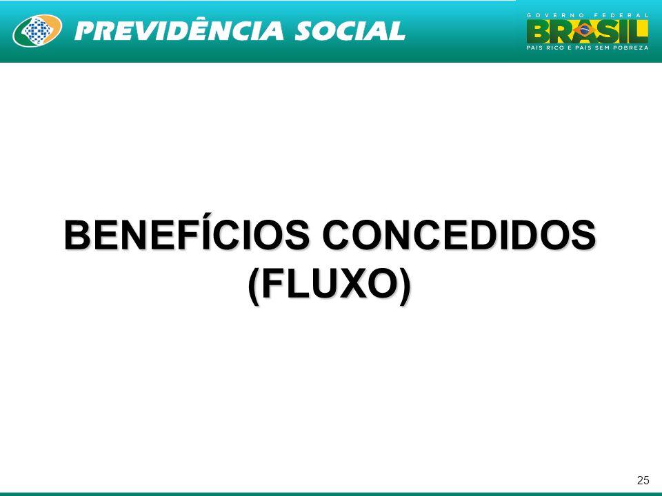 25 BENEFÍCIOS CONCEDIDOS (FLUXO)