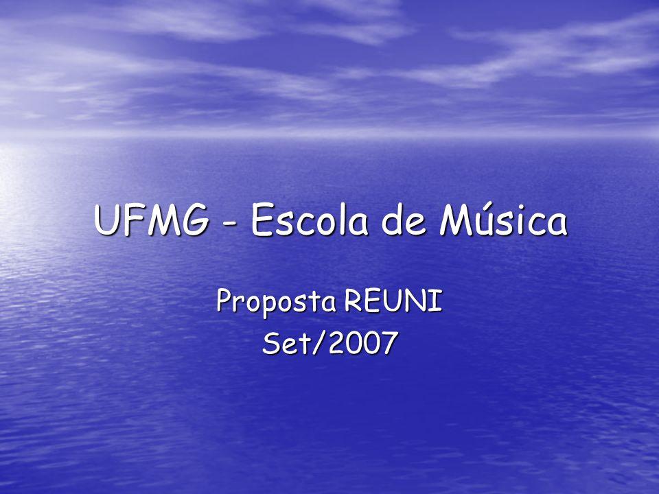 Histórico Decreto Decreto Proposta UFMG de Proposta UFMG de Proposta da Música de Proposta da Música de Proposta UFMG final de Proposta UFMG final de
