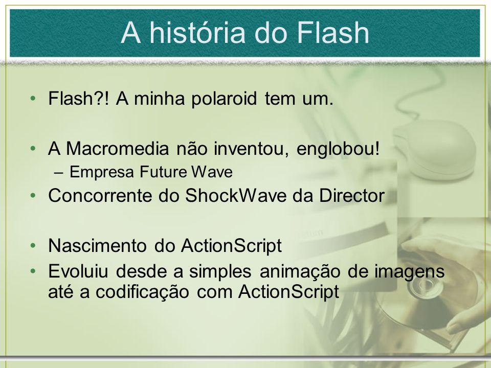 A história do Flash Flash?.A minha polaroid tem um.