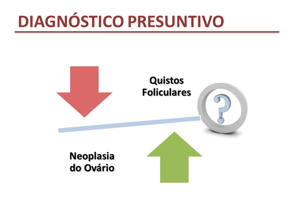 Quistos Foliculares Neoplasia do Ovário DIAGNÓSTICO PRESUNTIVO