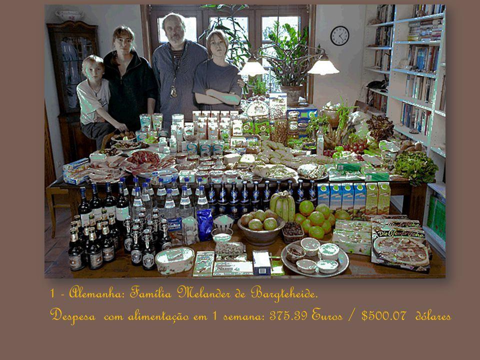 Dê uma olhada no tamanho da família, a dieta alimentar de cada país, a disponibilidade de alimentos e a despesa com comida, em 1 semana. 27-07-2010 Lu
