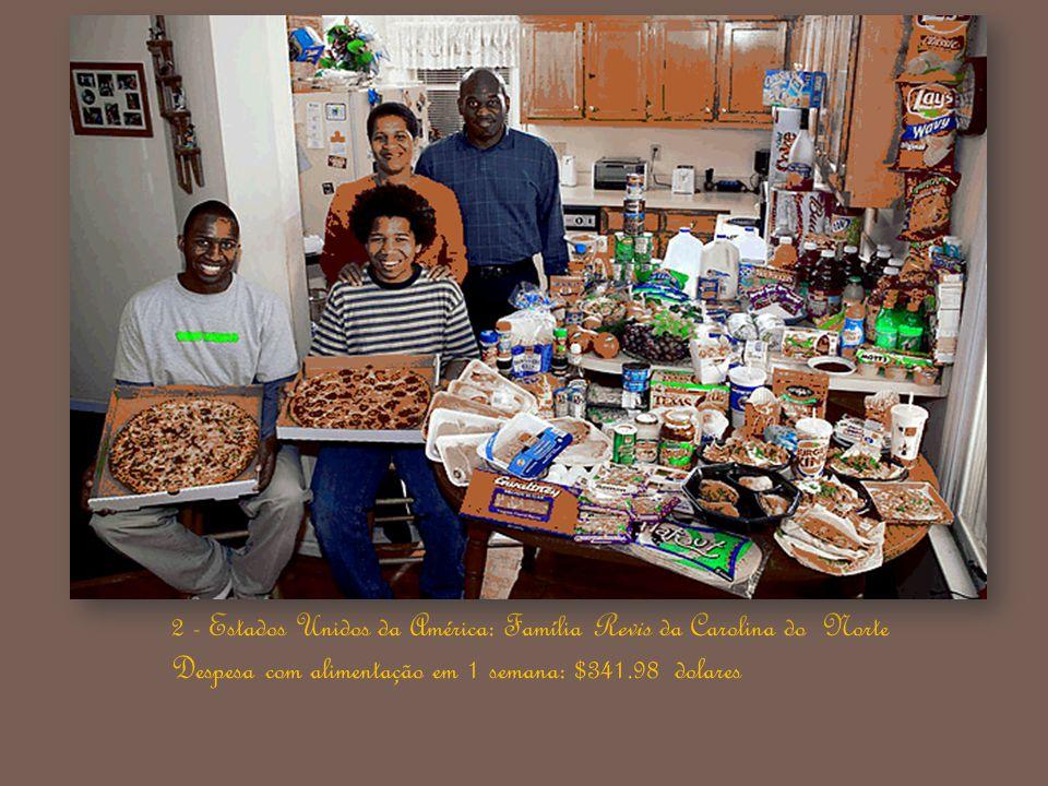 1 - Alemanha: Família Melander de Bargteheide. Despesa com alimentação em 1 semana: 375.39 Euros / $500.07 dólares