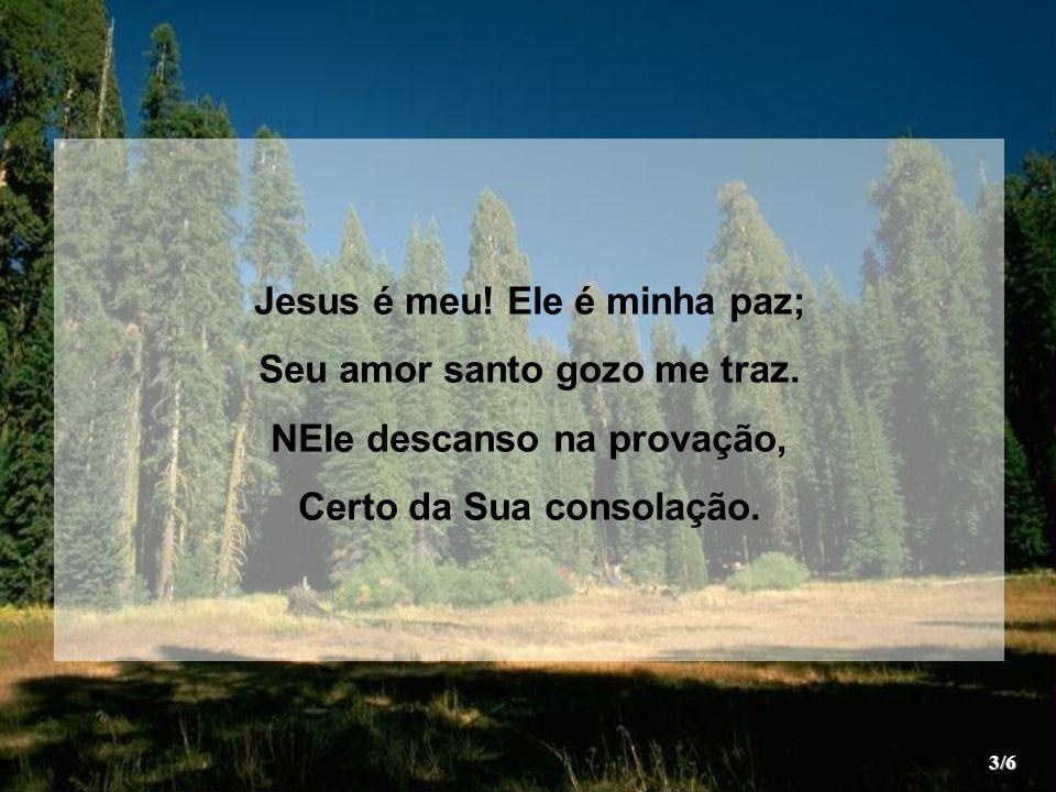 Digno é Jesus de todo louvor.Ele ganhou na cruz nosso amor.