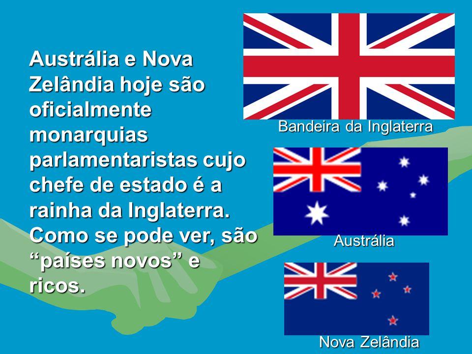 Austrália e Nova Zelândia tiveram destinos semelhantes ao do Canadá. Invadidos pelos ingleses, tiveram as suas populações nativas massacradas. Na Aust