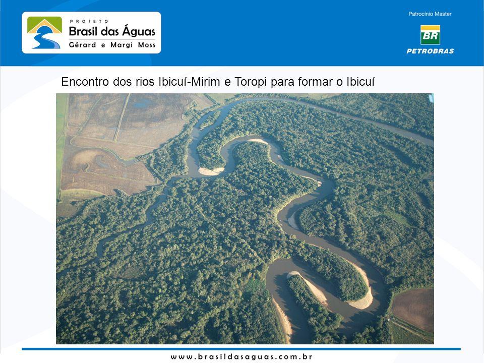 Encontro dos rios Ibicuí-Mirim e Toropi para formar o Ibicuí