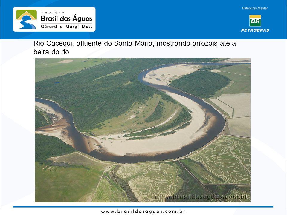 As curvas do rio vão transformando a geografia