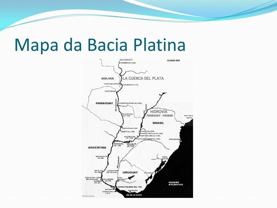 Mapa da Bacia Platina