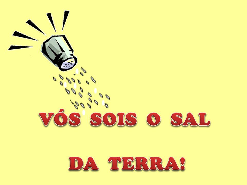 Vós sois o sal da terra; e se o sal for insípido, com que se há de salgar.