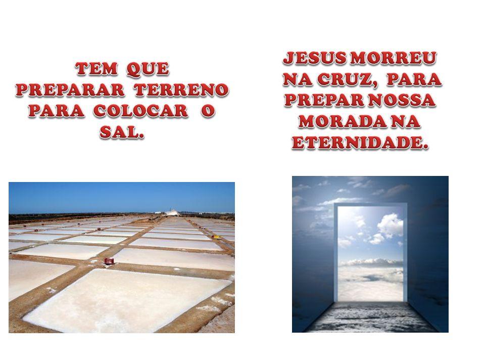 JESUS NOS RETIROU DO MAR, DO MUNDO. O SAL É RETIRADO DO MAR