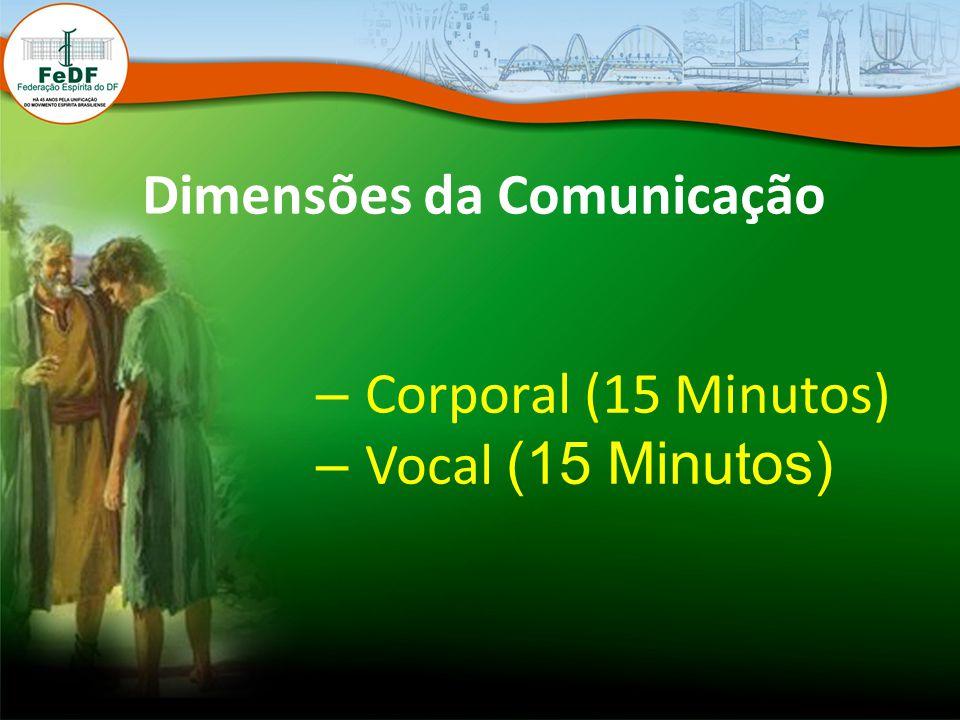 Dimensões da Comunicação – Corporal (15 Minutos) – Vocal (15 Minutos)