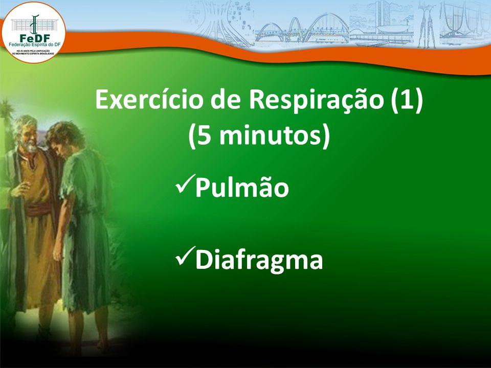 Exercício de Respiração (1) (5 minutos) Pulmão Diafragma