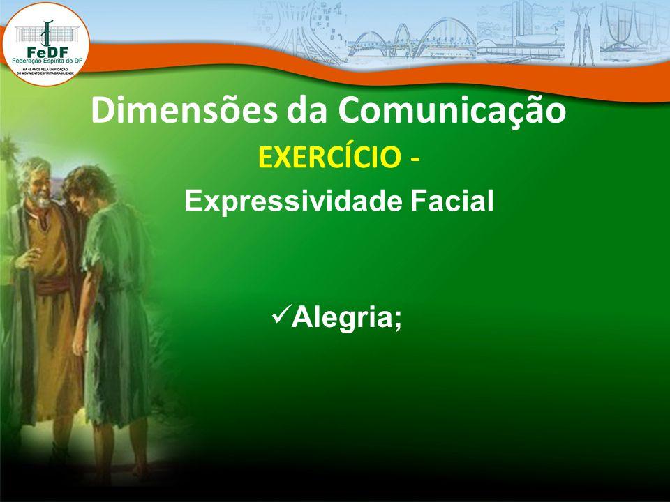 Dimensões da Comunicação EXERCÍCIO - Expressividade Facial Alegria;