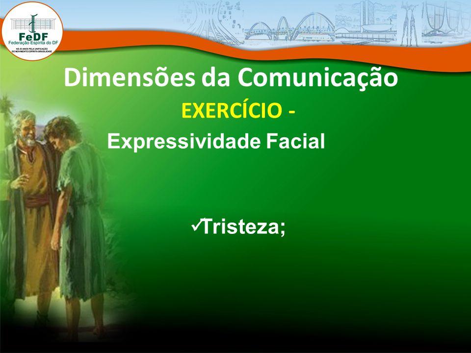 Dimensões da Comunicação EXERCÍCIO - Expressividade Facial Tristeza;