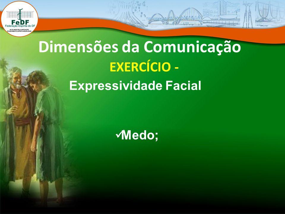Dimensões da Comunicação EXERCÍCIO - Expressividade Facial Medo;