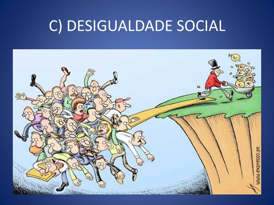 C) DESIGUALDADE SOCIAL
