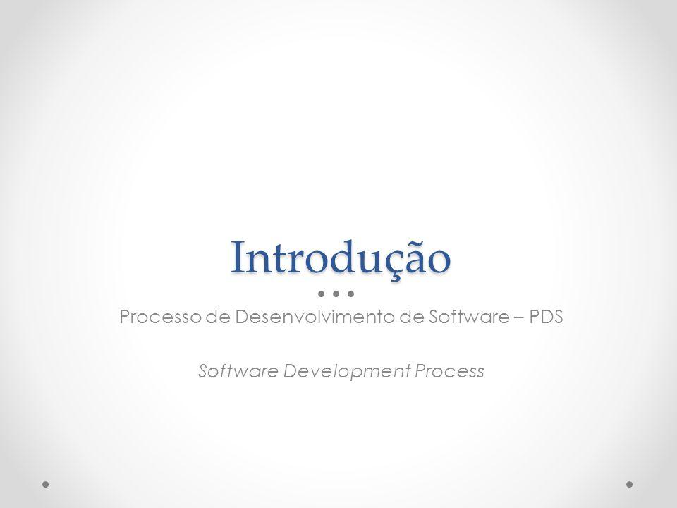 Introdução Processo de Desenvolvimento de Software – PDS Software Development Process