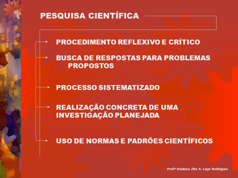 PROCEDIMENTO REFLEXIVO E CRÍTICO BUSCA DE RESPOSTAS PARA PROBLEMAS PROPOSTOS PROCESSO SISTEMATIZADO PESQUISA CIENTÍFICA REALIZAÇÃO CONCRETA DE UMA INV