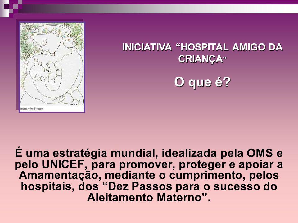 É uma estratégia mundial, idealizada pela OMS e pelo UNICEF, para promover, proteger e apoiar a Amamentação, mediante o cumprimento, pelos hospitais,
