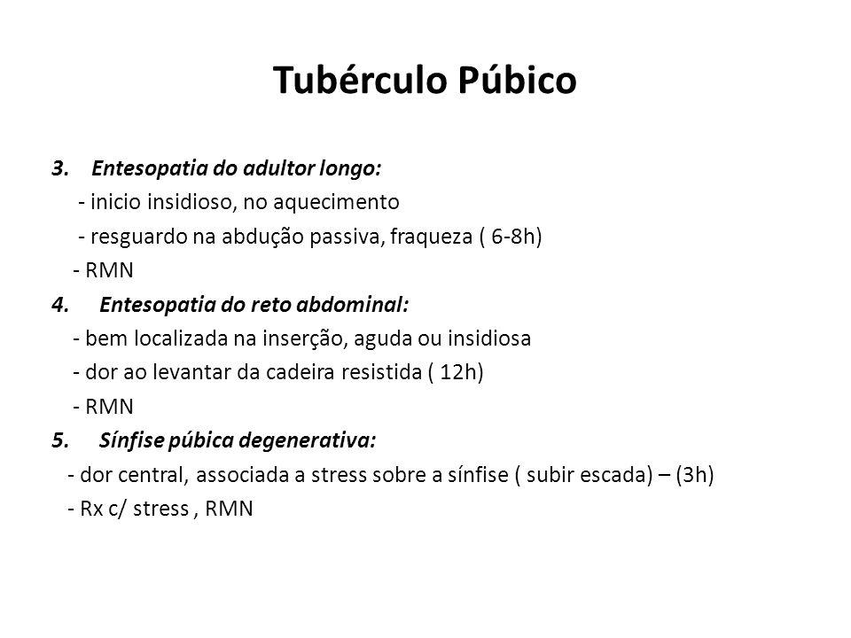 Tubérculo Púbico 3.
