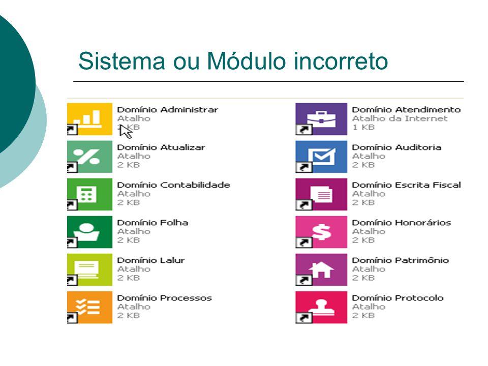 Sistema ou módulo incorreto Alguns dados  20% das SSC cadastradas por usuários são registradas com sistema ou módulo incorreto.