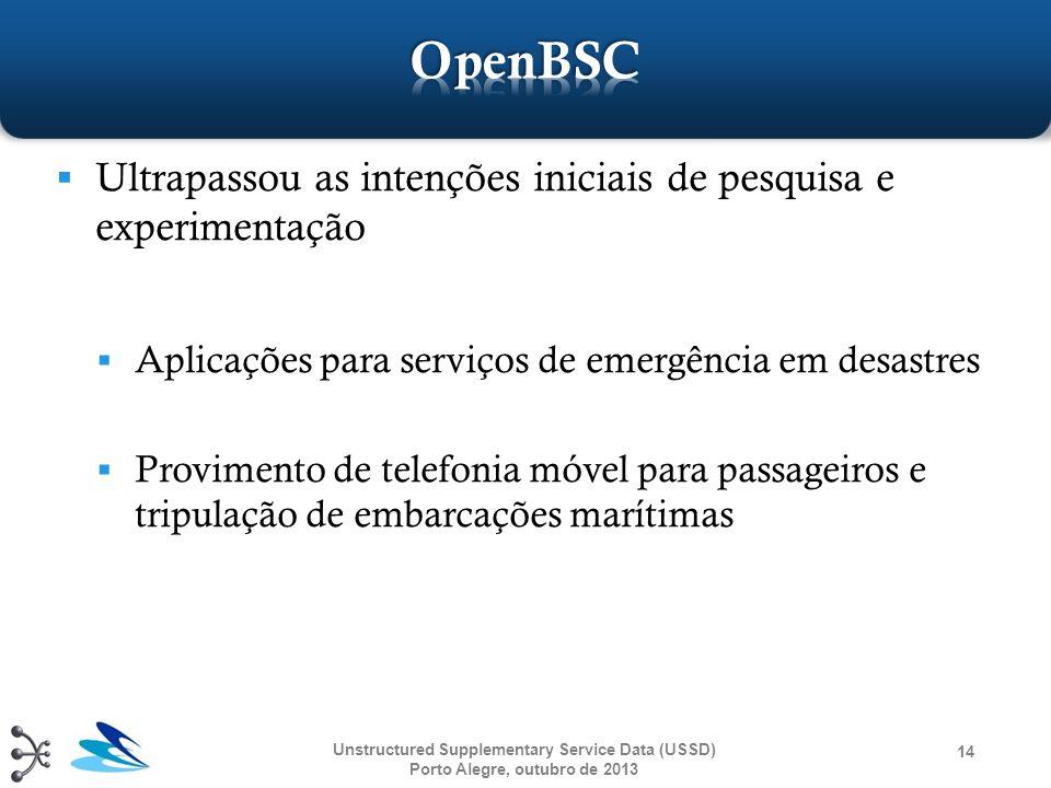  Ultrapassou as intenções iniciais de pesquisa e experimentação  Aplicações para serviços de emergência em desastres  Provimento de telefonia móvel