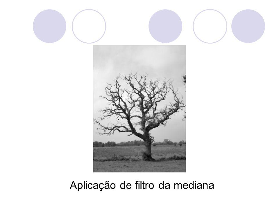 Aplicação de filtro da mediana